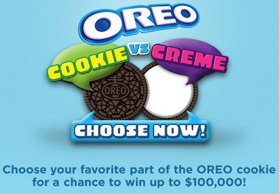 Choose OREO Cookie to win up to $100,000